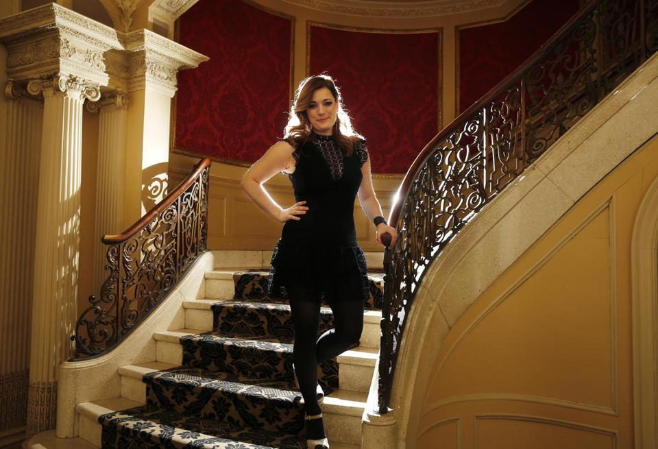 Actress Laura Michelle Kelly at the Boston Opera House.