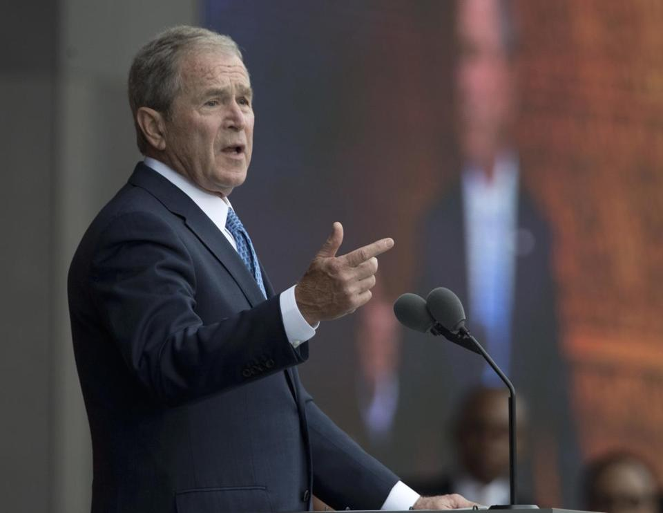 Former President George W. Bush on the Trump administration's contacts with Russia: ''I think we all need answers . . . I'm not sure the right avenue to take.""