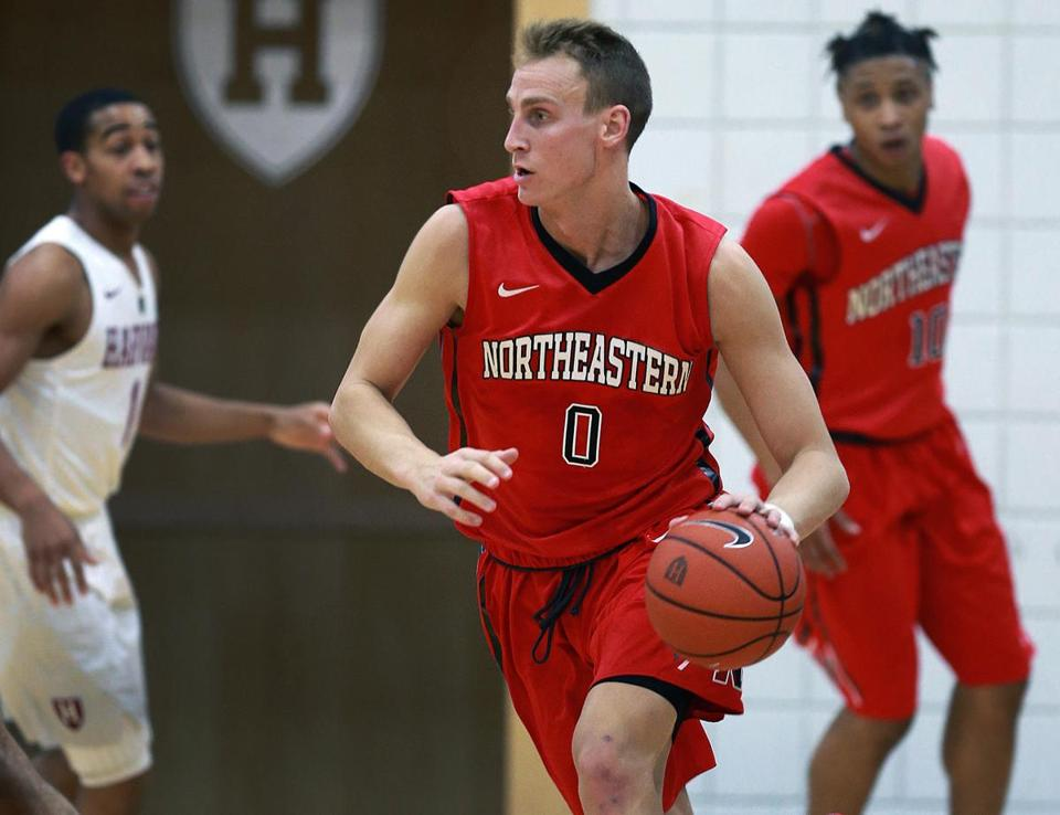 Boston, MA- 12-06-16: Northeastern's Alex Murphy (0) is pictured during the game. Northeastern visited Harvard for a mens basketball game. (Jim Davis/Globe Staff) reporter: unknown topic: NU-Harvard hoops
