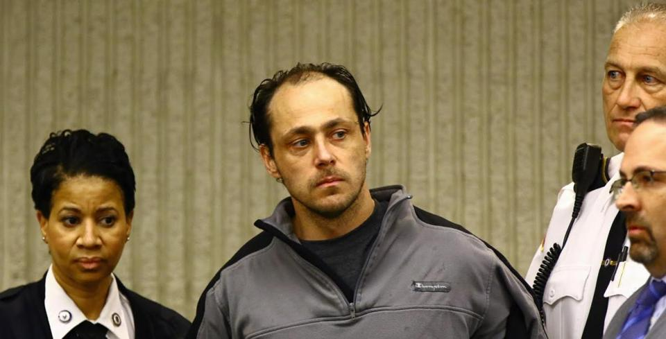 Double murder suspect Wes Doughty was arraigned in Peabody District Court Tuesday.