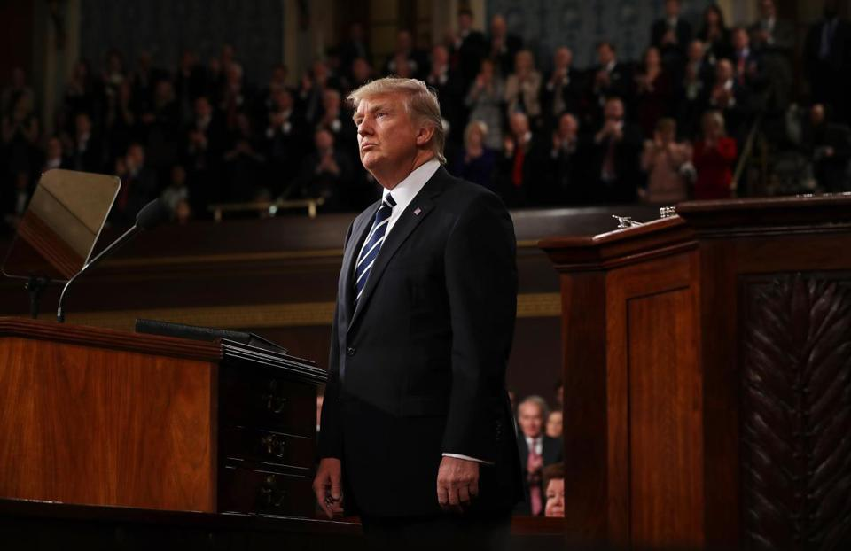 President Trump's address to Congress focused on national security, tax and regulatory reform, the economy, and health care.
