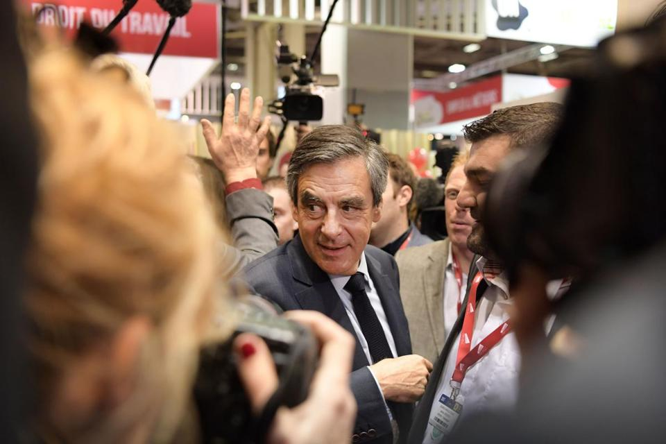 Francois Fillon, candidate for the right-wing Les Republicains party, at the Paris International Agriculture Fair.