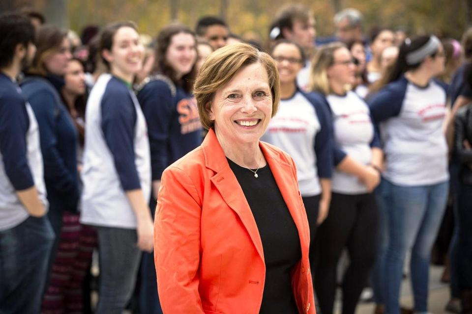 Patricia Meservey will step down as Salem State's president later this year.