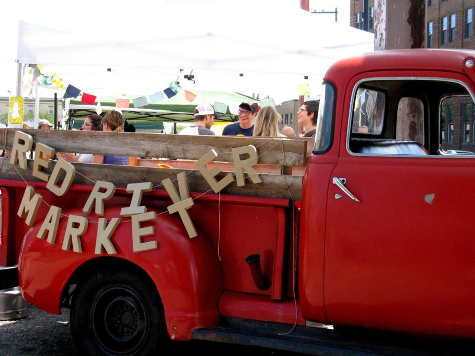 The Red River Market, which focuses on locally-sourced products, is bustling on Saturday mornings.