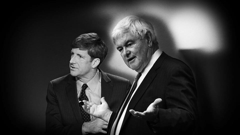 Collaborating: ex-congressman Patrick Kennedy (left) and former House Speaker Newt Gingrich.