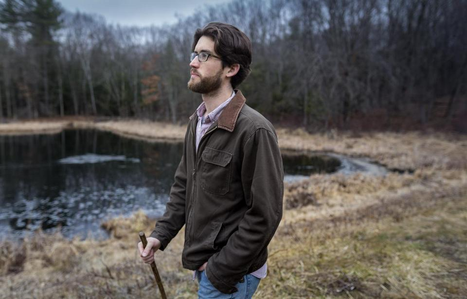 """Walking to Listen"" author Andrew Forsthoefel takes a hike in Northampton."