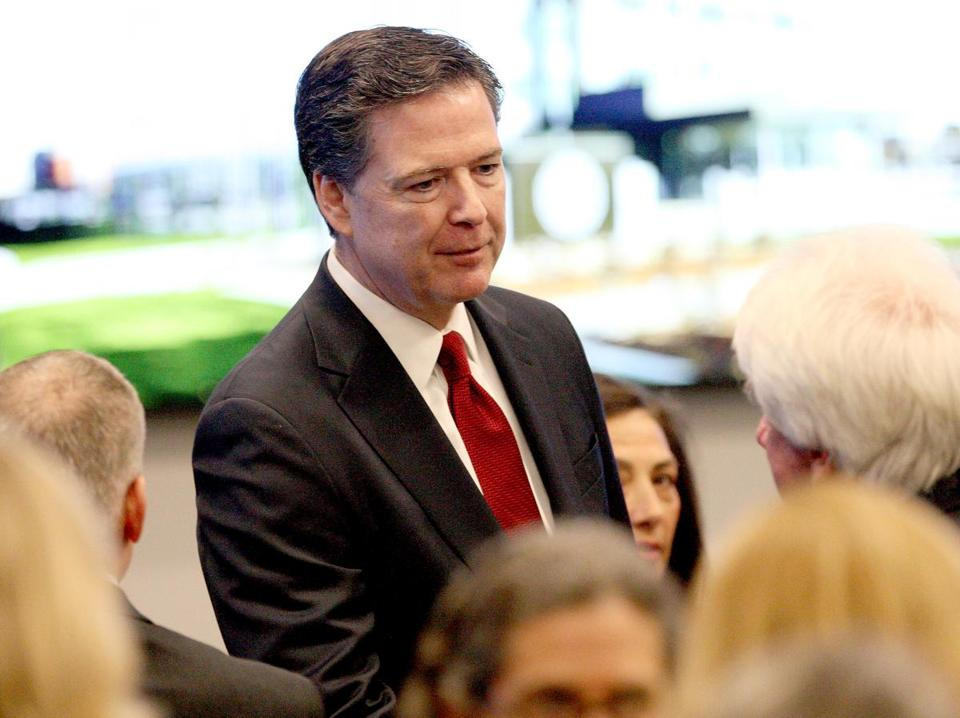 FBI director James Comey at the FBI's new facility in Chelsea, Mass., on Tuesday.