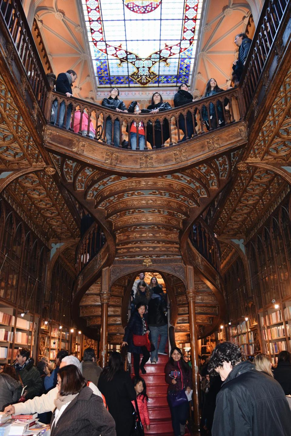 Harry Potter fans have turned century-old Livraria Lello bookstore in Porto into a bustling tourist attraction.