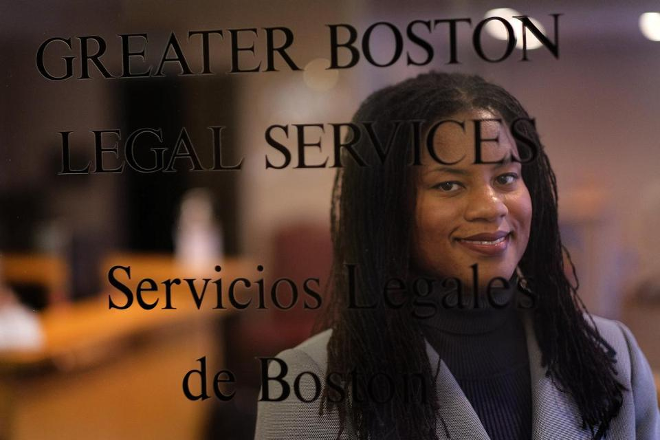 Boston, MA - 11/03/15 - Five things feature about Lydia Edwards, a fellow at Greater Boston Legal Services. Edwards has worked to protect the rights of domestic workers and has played a key role in passing legislation last year aimed at ending abuse of domestic workers, often immigrants. - (Barry Chin/Globe Staff), Section: Business, Reporter: Beth Healy, Topic: 08fivethings, LOID: 8.2.217950676.