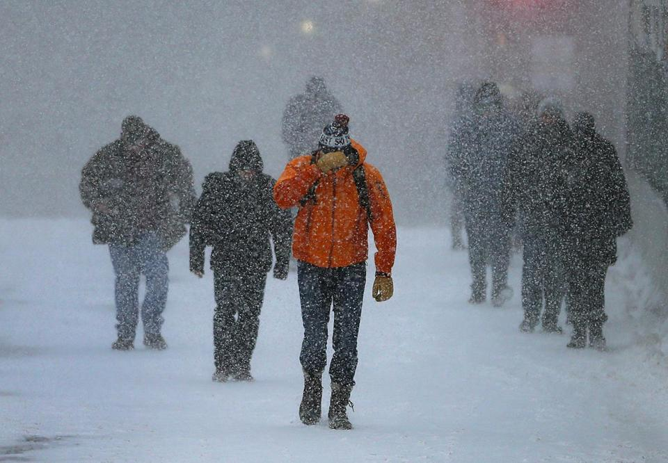The Boston area will likely see 1 to 2 inches of snow by 4 p.m. Friday.