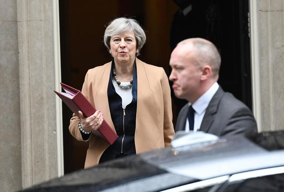 Prime Minister Theresa May, at 10 Downing Street, has pledged not to hold a general election until 2020.
