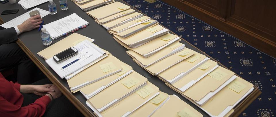 Amendments awaited attention as the House Energy and Commerce Committee held a mark-up hearing for the American Health Care Act in Washington on March 9.