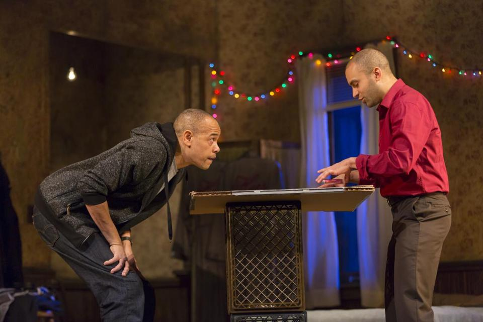 "Tyrone Mitchell Henderson (left) and Matthew J. Harris in ""Topdog/Underdog."""