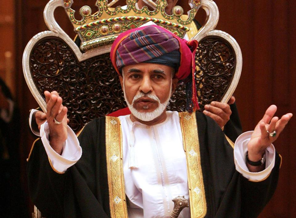 Omani leader Sultan Qaboos bin Said in 2011.