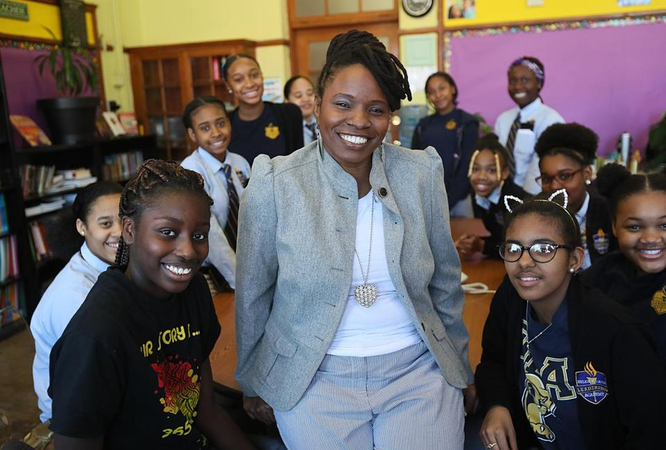 Helen Y. Davis Leadership Academy's Lovely Hoffman penned a song to teach students about self worth.