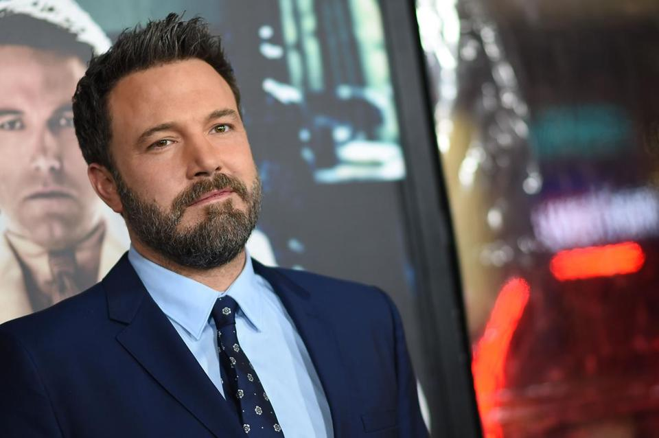 "Ben Affleck, pictured at the Hollywood premiere of ""Live by Night"" in January."