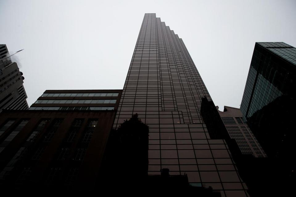A view of Trump Tower.