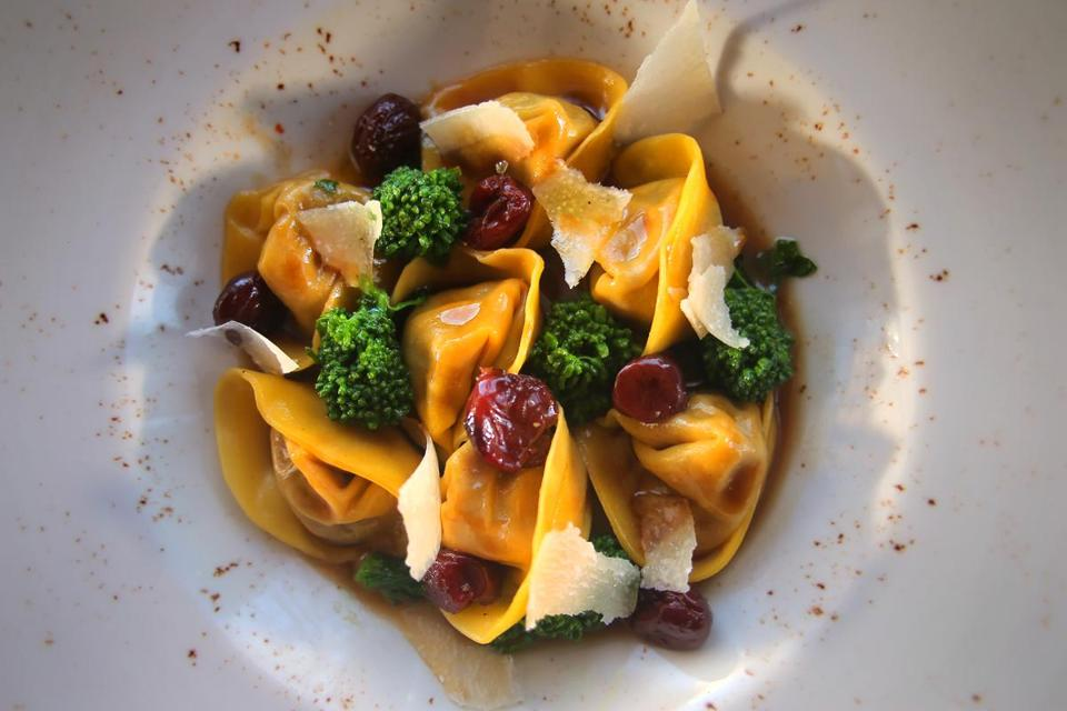 Braised duck leg tortelloni