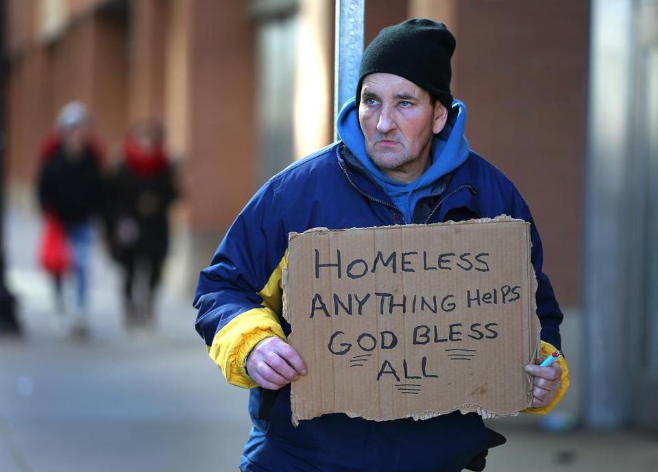 Michael Hathaway, 52, is homeless.