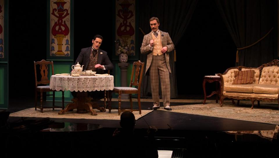 "Odyssey Opera's ""The Importance of Being Earnest"" features Neal Ferreira as Jack and Stefan Barner as Algernon."