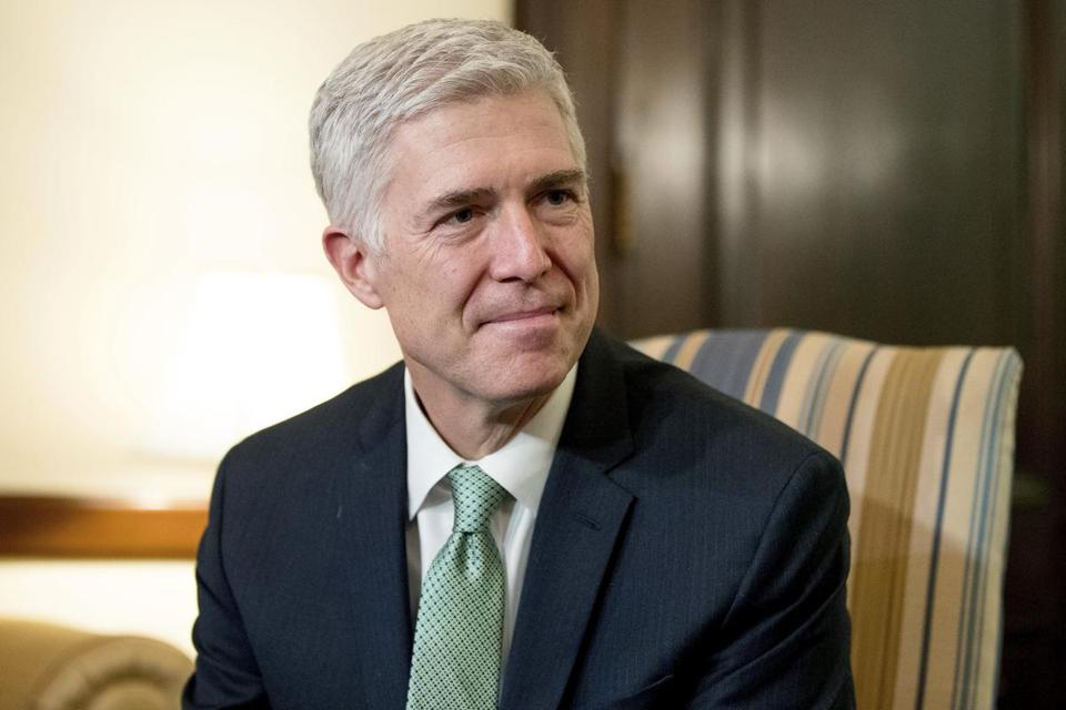 Supreme Court Justice nominee Neil Gorsuch.
