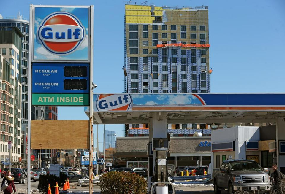 The lot that was home to this Gulf gas station in the Fenway neighborhood sold for $16.9 million.