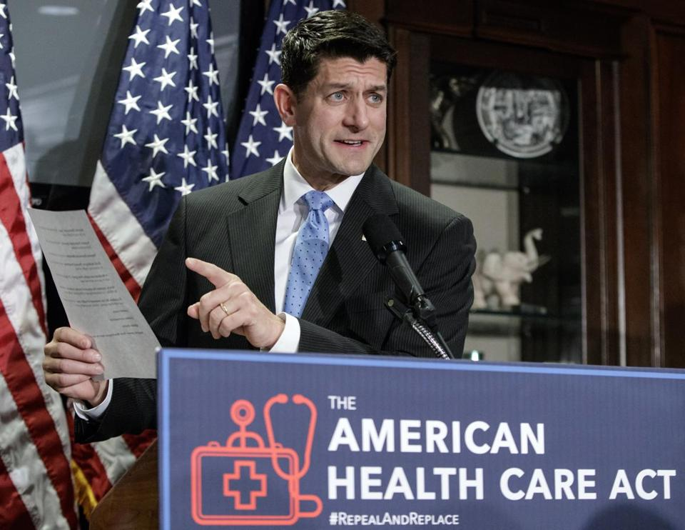 House Speaker Paul Ryan spoke about the American Health Care Act at a news conference earlier this month.