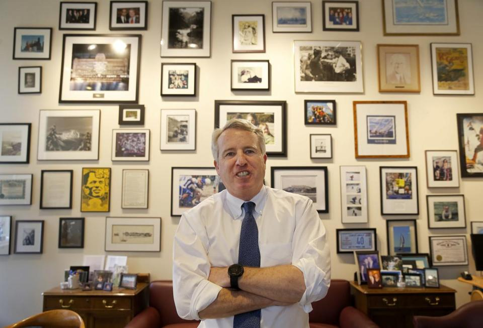 Businessman Chris Kennedy, a son of the late Robert F. Kennedy, posed in his Chicago office in February.
