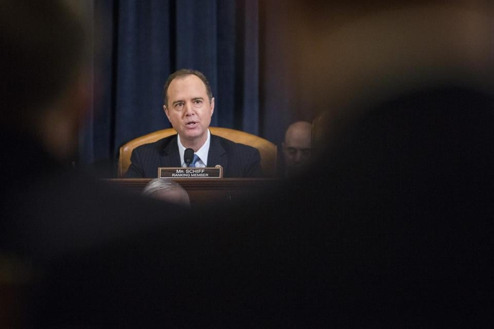 WASHINGTON, D.C. - MARCH 20: House Permanent Select Committee on Intelligence Ranking Member Adam Schiff (D-CA) speaks at the start of a House Permanent Select Committee on Intelligence hearing concerning Russian meddling in the 2016 United States election, on Capitol Hill, March 20, 2017 in Washington, DC. While both the Senate and House Intelligence committees have received private intelligence briefings in recent months, Monday's hearing is the first public hearing on alleged Russian attempts to interfere in the 2016 election. (Photo by )