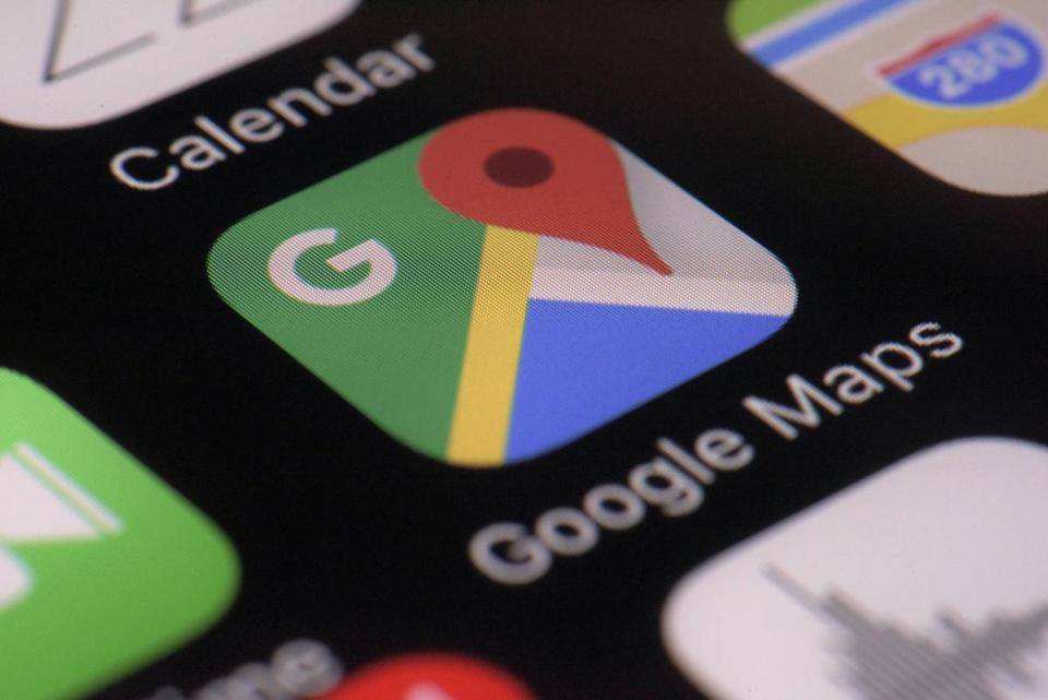 The Google Maps app on a smartphone.