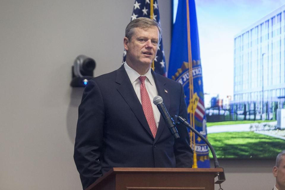 CHELSEA, MA - MARCH 07: Massachusetts Governor Charlie Baker attends the opening of FBI Boston Headquarters on March 7, 2017 in Chelsea, Massachusetts. Director Comey was in to mark the opening of new offices for the Boston FBI division. (Photo by Scott Eisen/Getty Images)