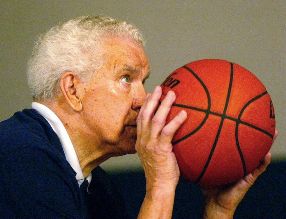 Coaches sought Dr. Amberry's free throw analysis well into his 90s. He would regularly sink 500 shots in a row.