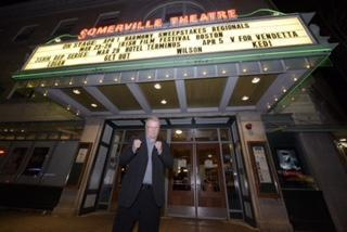 "Sean Mannion struck a pose outside the world premiere of ""Rocky Ros Muc,"" the documentary about his life, at the Irish Film Festival Boston at Somerville Theatre."
