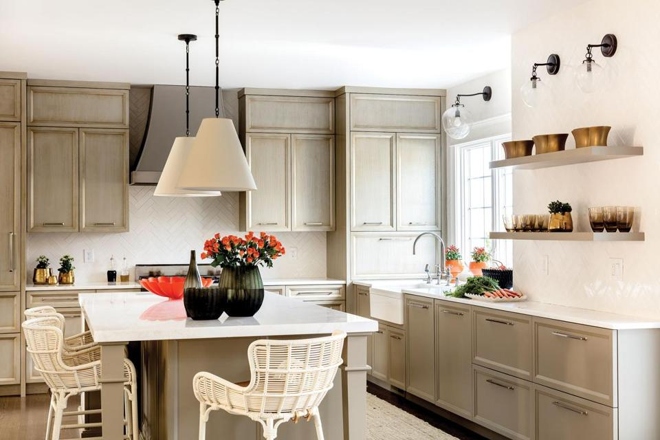 Bright Kitchen how to get a bright kitchen without white cabinets - the boston globe