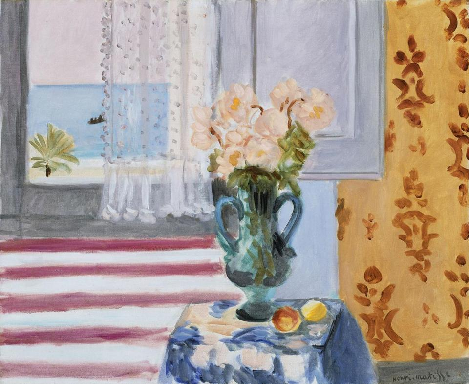 """Vase of Flowers"" by Henri Matisse, part of ""Matisse in the Studio,"" which opens Sunday at the Museum of Fine Arts."