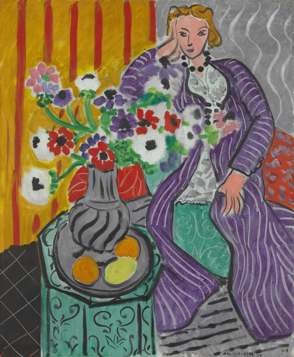 """Purple Robe and Anemones"" by Henri Matisse"