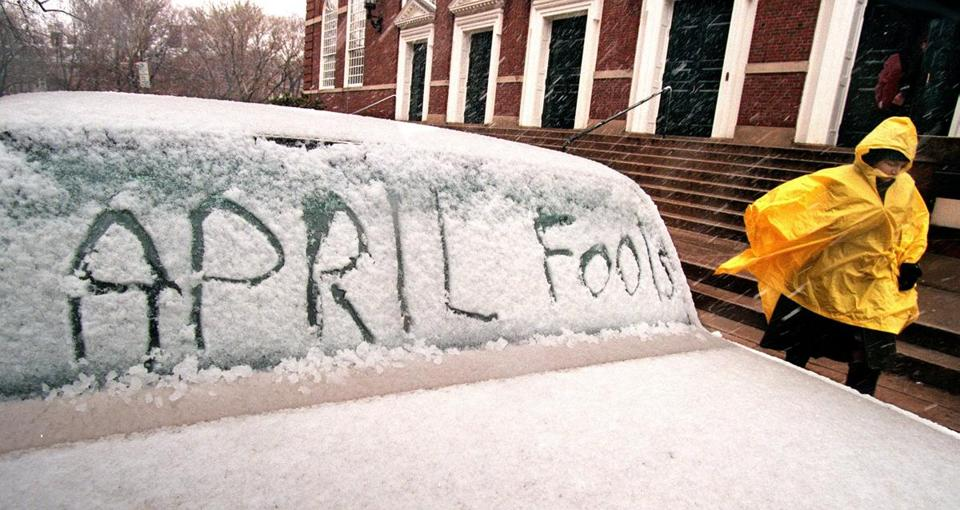 A car parked on the Harvard campus.