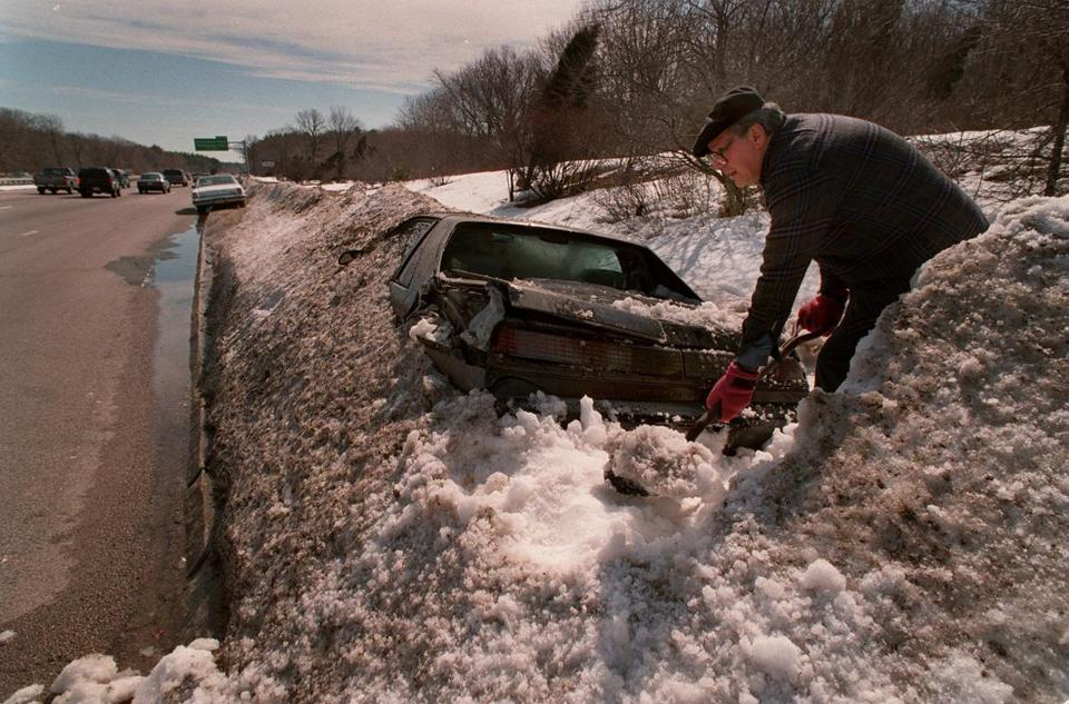 A car on the side of the road on April 5, 1997.