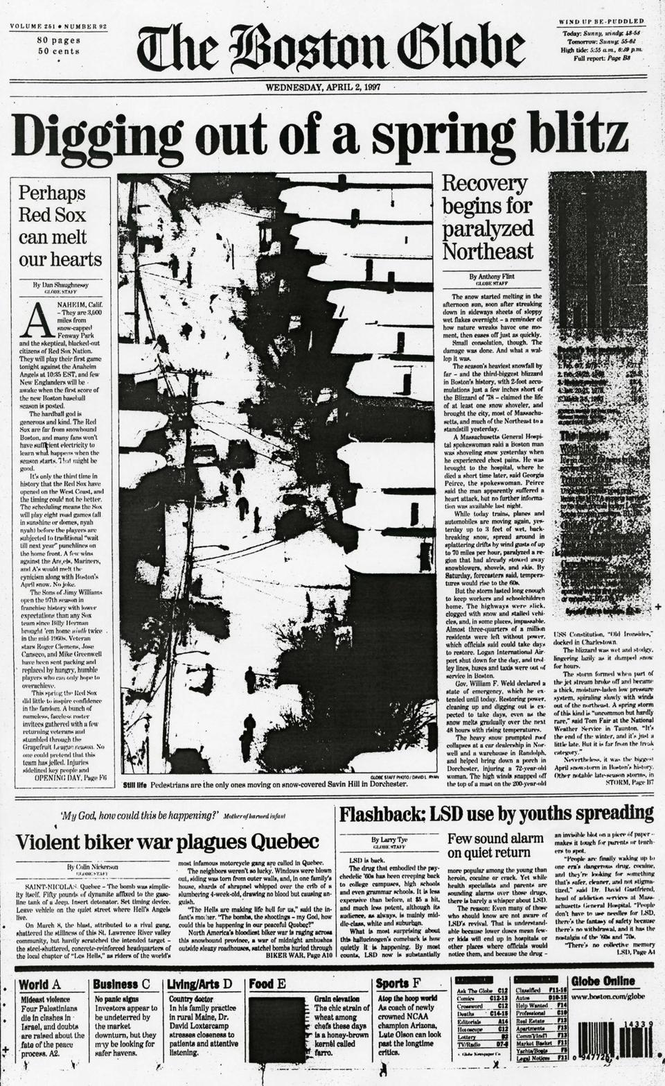 The front page on April 2.