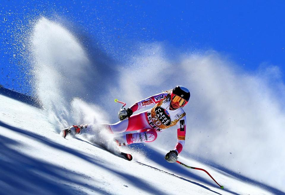 Alice Merryweather finished 19th in the World Cup downhill at Aspen.