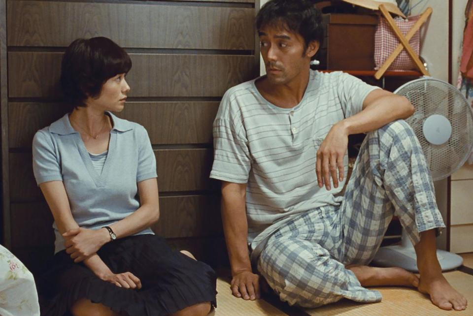 "Yoko Maki and Hiroshi Abe in ""After the Storm."""