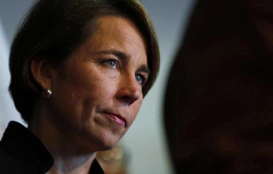 Boston, MA -- 1/31/2017 - Attorney General Maura Healey announces that her office is taking action challenging President Trump's Executive Order on Immigration. (Jessica Rinaldi/Globe Staff) Topic: 01healey Reporter: