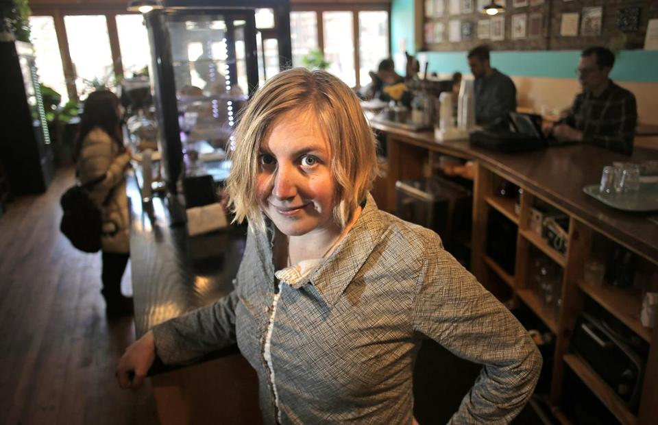 Cambridge, MA - 04/03/17 - Lucy Valena (cq), executive officer of Barismo in Cambridge, is getting cold calls from recruiters as high-end corporate coffee chains opening in the area seek talent. (Lane Turner/Globe Staff) Reporter: (Janelle Nanos) Topic: (05barista)