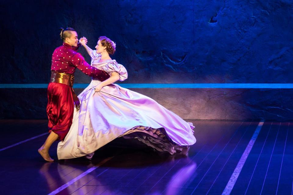 "Jose Llana is the King of Siam and Laura Michelle Kelly is Anna in ""The King and I."""