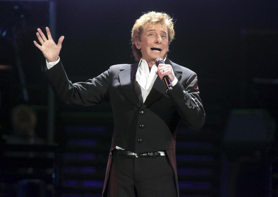 Barry Manilow, shown in concert in Hershey, Pa., in 2016.
