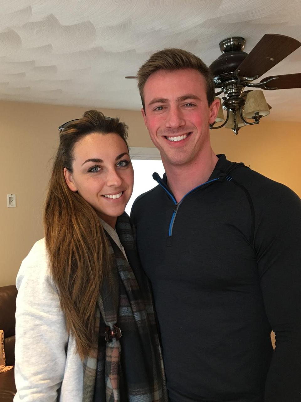 Johnny Loreti, 28, personal trainer, and Loren Pete, 25, laboratory logistics employee—Rebecca Szkutak