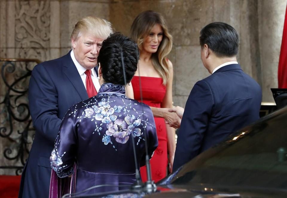 Image result for photos of president trumps meeting with chinese leader