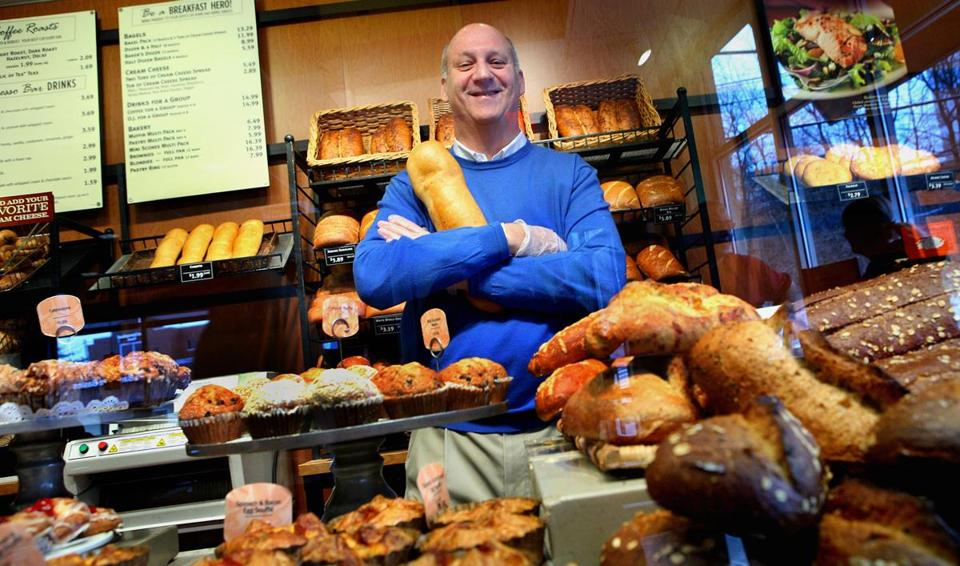 Needham, MA 021010 Panera Bread founder Ron Shaich(cq)in his Needham bakery, Wednesday, February 10, 2010. (Staff Photo/Wendy Maeda) section: Business slug: 14panera reporter: Jenn Abelson 27contribute Library Tag 02122011 Business