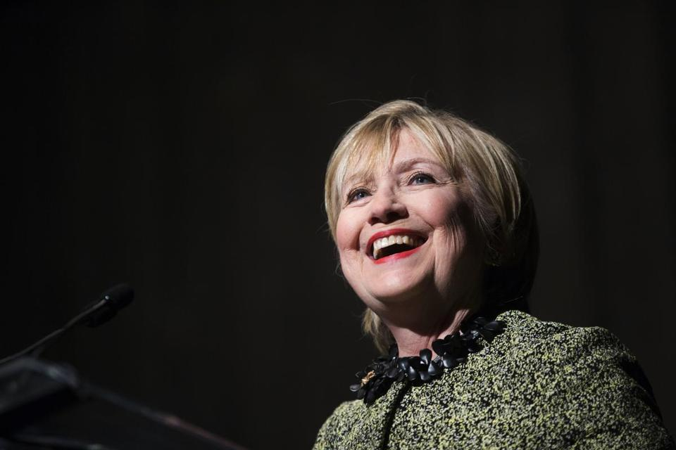 Hillary Rodham Clinton speaks during the Annie's List annual luncheon in Houston on Friday, April 7, 2017. Annie's List works to recruit, train, support and elect progressive women to Texas public offices. (Marie D. De Jesus/Houston Chronicle via AP)