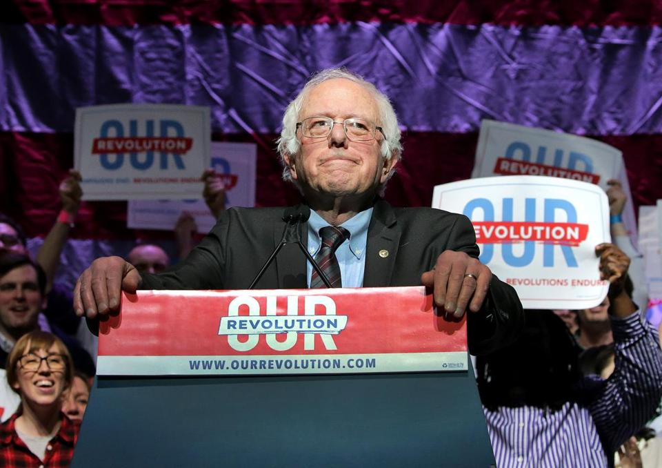 "Senator Bernie Sanders spoke at the ""Our Revolution"" even in Boston earlier this month."